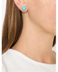 Irene Neuwirth Blue Turquoise Stud Earrings