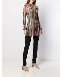 M Missoni Multicolor Pullover mit grafischen Streifen