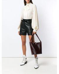 Sophie Hulme Red Calf Leather Tote Bag