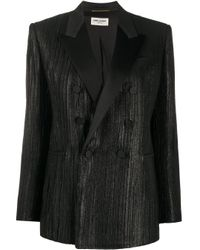 Saint Laurent Black Doppelreihiger Blazer