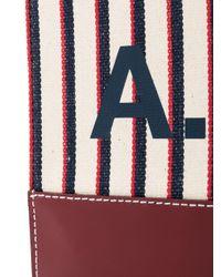 A.P.C. ストライプ ロゴ クラッチバッグ Multicolor