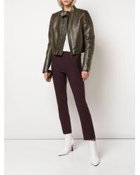 Vince Black Cropped Slim Fit Trousers