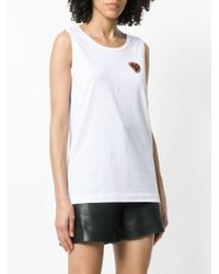 Dolce & Gabbana - White Applique Tank Top - Lyst