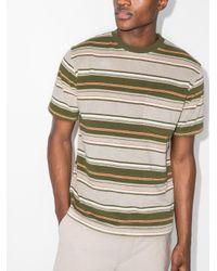 メンズ Beams Plus ストライプ Tシャツ Gray