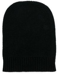 メンズ N.Peal Cashmere カシミア ニット帽 Black