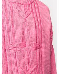 メンズ Stone Island チャンキーニット セーター Pink