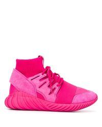 "Baskets montantes ""Tubular Doom"" Adidas en coloris Pink"
