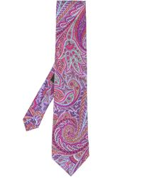 メンズ Etro ペイズリー ネクタイ Purple