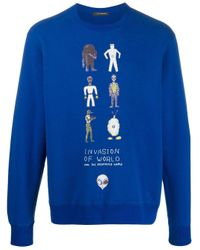Undercover Blue Invasion Of The World Sweatshirt for men