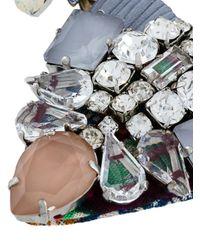 Rada' - Metallic Rhinestone Embellished Necklace - Lyst