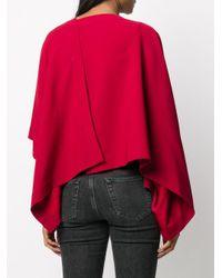 Camisa drapeada en la espalda Issey Miyake de color Red