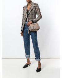 Marc Jacobs Gray Nomad Saddle Bag
