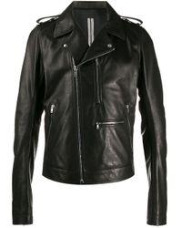 Rick Owens Black Oversized Biker Jacket for men
