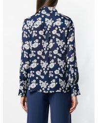 Блузка С Цветочным Принтом MICHAEL Michael Kors, цвет: Blue