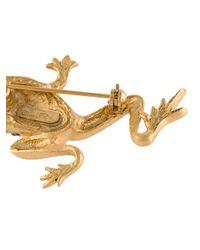 Oscar de la Renta - Green Frog Brooch - Lyst