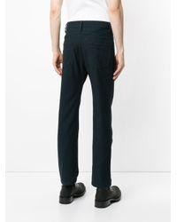 Lemaire Blue Straight Leg Trousers for men
