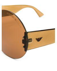 Occhiali da sole ovali di Giorgio Armani Pre-Owned in Multicolor