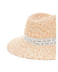 Плетеная Шляпа-федора Maison Michel, цвет: Natural