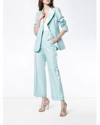 Racil Blue 'starman' Satin Stripe Trousers