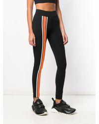 Legging à bandes latérales contrastantes No Ka 'oi en coloris Black