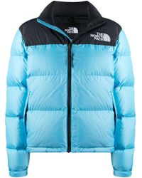 The North Face ロゴ パデッドジャケット Blue