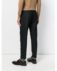 Paolo Pecora | Black Drawstring Pleated Trousers for Men | Lyst