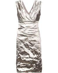 Nicole Miller Metallic-effect Fitted Dress