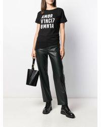 T-shirt con applicazione di Liu Jo in Black
