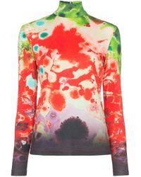 Top à imprimé tie dye Samuel Guì Yang en coloris Red