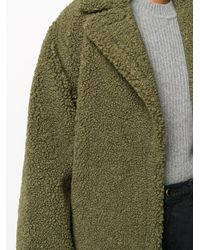 Пальто Оверсайз Из Шерпы Stand Studio, цвет: Green