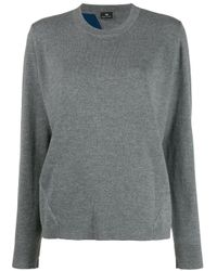 PS by Paul Smith Gray Long Sleeve Striped Sweater