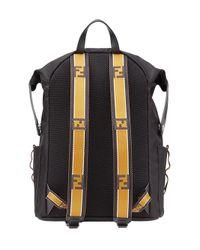 Fendi Black Technical Sports Backpack for men