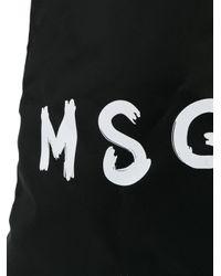 MSGM Rugzak Met Trekkoord in het Black