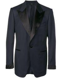 Blazer clásico ajustado Tom Ford de hombre de color Blue