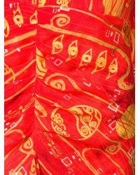Rixo Red V-neck Long-sleeve Dess