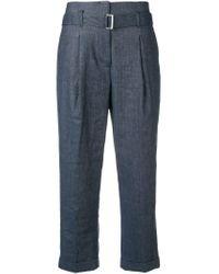 Pantalones con efecto vaquero Peserico de color Blue