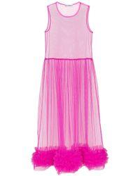 Vestito midi Alison di Molly Goddard in Pink