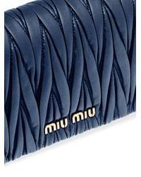 Miu Miu マテラッセ ミニバッグ Blue