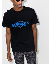メンズ Mowalola スローガン Tシャツ Blue