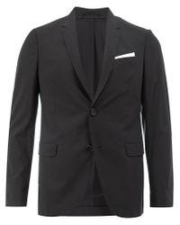 Neil Barrett Black Pocket Square Blazer for men