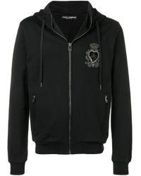 メンズ Dolce & Gabbana ハートパッチ パーカー Black