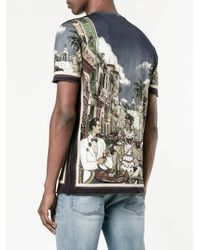 Dolce & Gabbana - Blue Palermo Printed T-shirt for Men - Lyst
