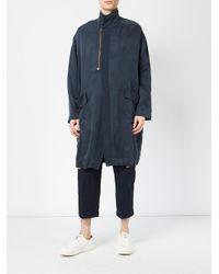 Miaoran Blue Zipped Detail Coat for men