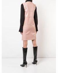 Nina Ricci コントラストストライプ ドレス Pink