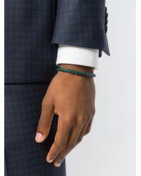 Canali - Green Woven Bracelet for Men - Lyst