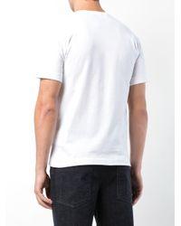 Comme des Garçons White Comme Des Garçons Play Heart Slim Fit Print T-shirt for men