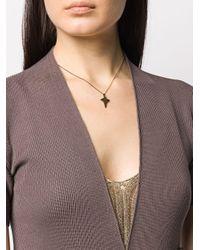 Collier à pendentif flèche Saint Laurent en coloris Metallic