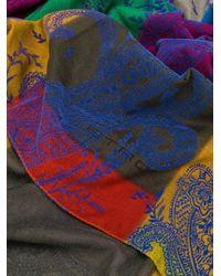 Etro ペイズリー スカーフ Blue