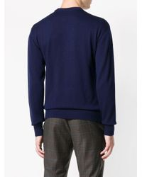メンズ Lanvin バード インターシャ セーター Blue