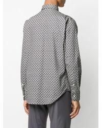 Chemise à imprimé géométrique Brioni pour homme en coloris Blue